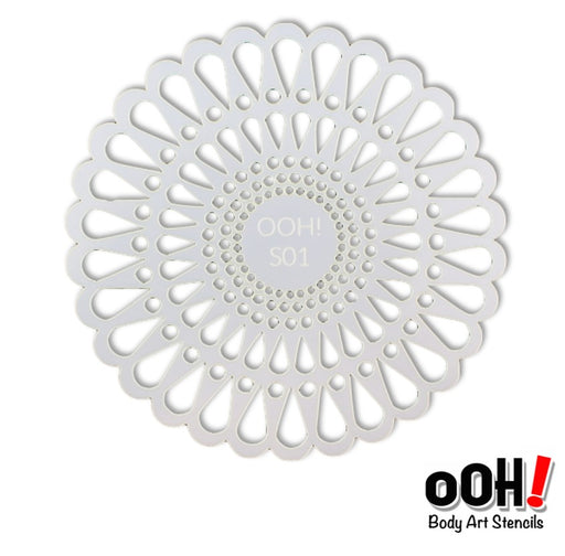 Ooh! Face Painting Stencil | Doily Sphere (S01) - Jest Paint Store