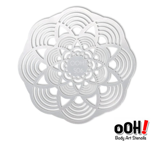 Ooh! Face Painting Stencil | Mandala Sphere (S06) - Jest Paint Store