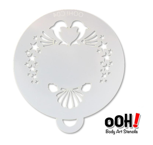 Ooh! Face Painting Stencil | Dolphin Flip (C04) - Jest Paint Store