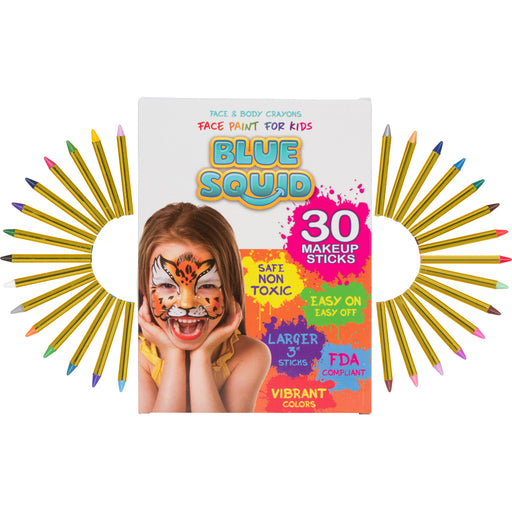 Blue Squid | KID'S Face Paint - 30 Face & Body Paint Crayons - Jest Paint Store