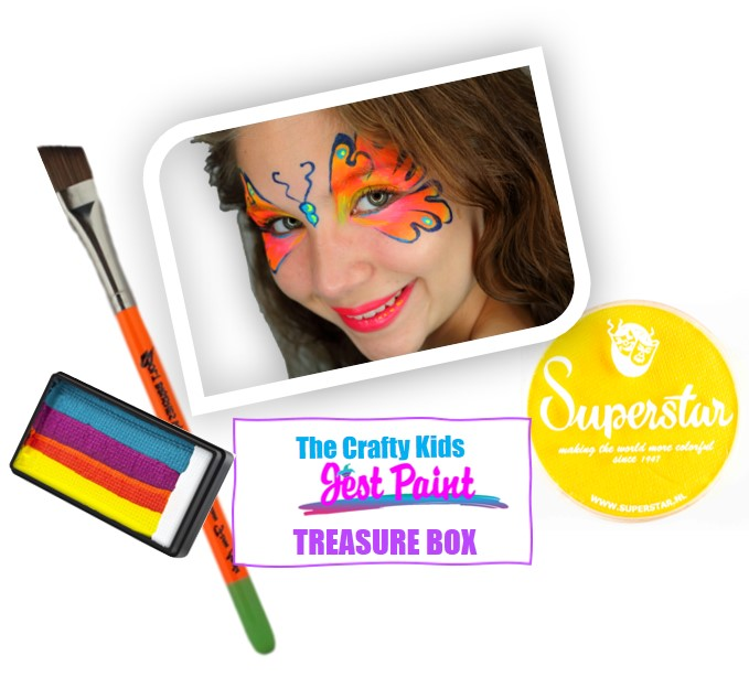 THE CRAFTY KIDS FACE PAINT TREASURE BOX (3 Month Subscription) - Jest Paint Store