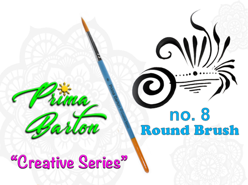 Prima Barton | Creative Series Face Painting Brush - Round #8 - Jest Paint Store