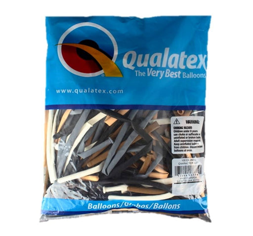 Qualatex Balloons - 260Q Skin Tone Assortment - 100ct - Jest Paint Store