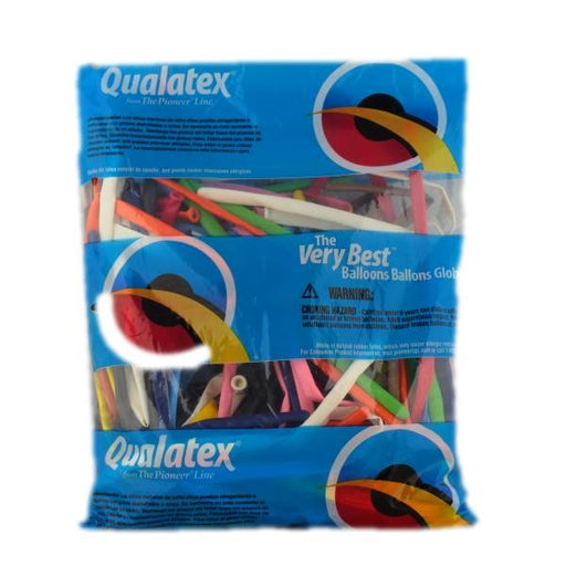 Qualatex Balloons - 260Q Classic Assortment - LARGE PACK of 250ct - Jest Paint Store
