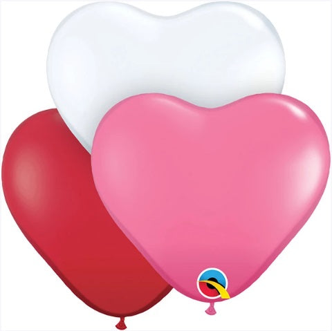 "Qualatex Balloons - 6"" Sweetheart Assortment - 100ct - Jest Paint Store"