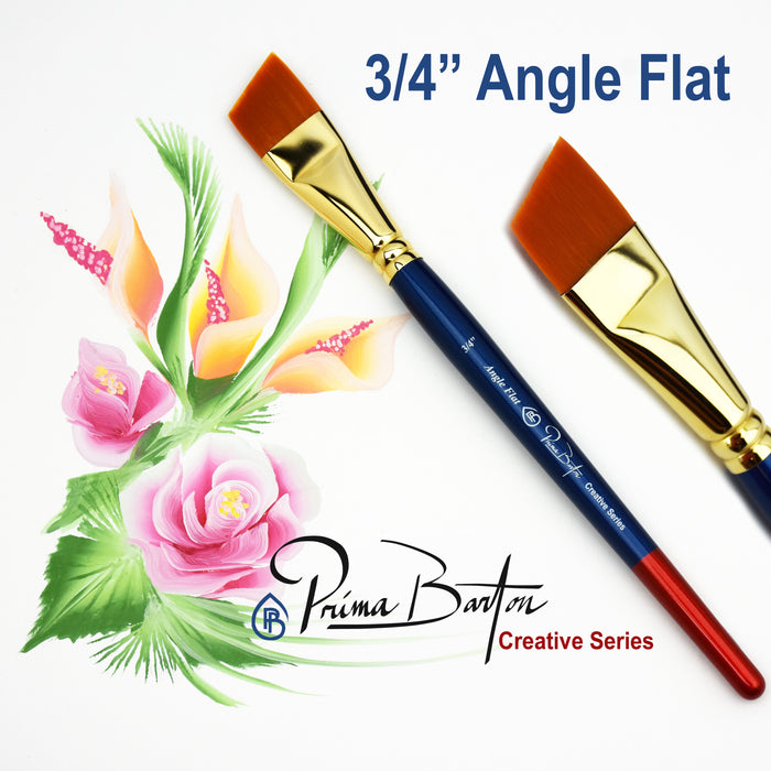 "Prima Barton | Creative Series Face Painting Brush - 3/4"" Angle Flat - Jest Paint Store"