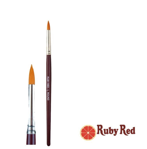 Face Painting Brush - Ruby Red - Large Round - Jest Paint Store