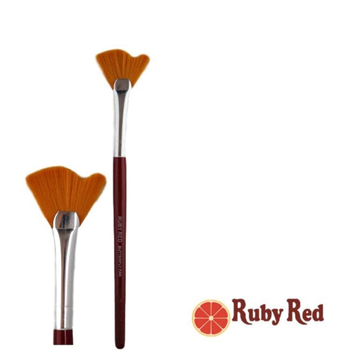 Face Painting Brush - Ruby Red - Butterfly Brush - Jest Paint Store