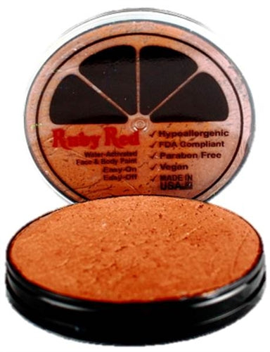 Ruby Red Face Paint - Metallic Copper - Jest Paint Store
