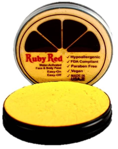 Ruby Red Face Paint- Pearl Yellow - Jest Paint Store