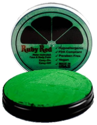 Ruby Red Face Paint - Pearl Green - Jest Paint Store