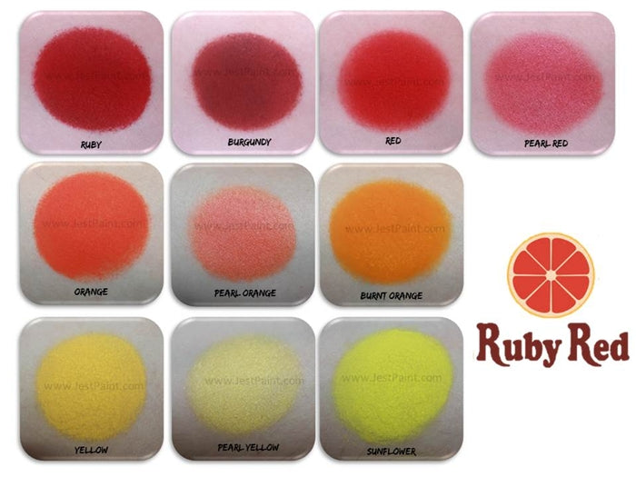 Ruby Red Face Paint - Pearl Orange - Jest Paint Store - Swatch
