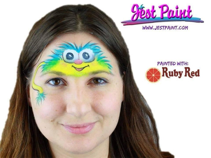 Ruby Red Face Paint - Small 8 Color Classic Palette - Jest Paint Store - Demo