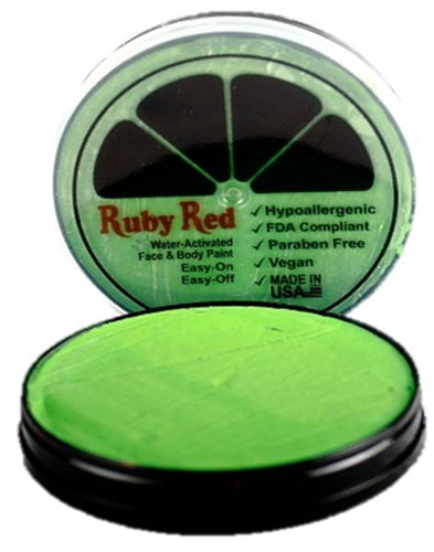 Ruby Red Face Paint - Regular Lime Green - Jest Paint Store