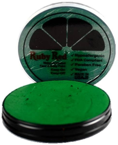 Ruby Red Face Paint - Regular Green - Jest Paint Store