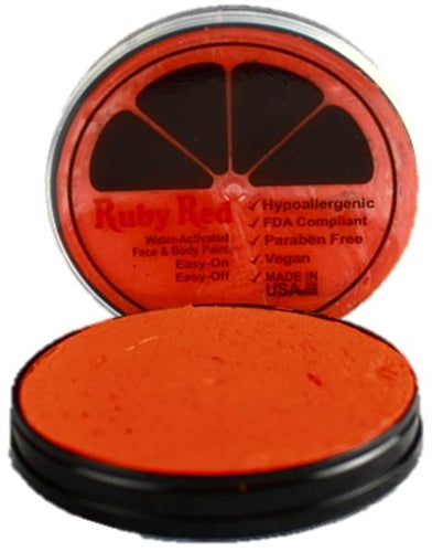 Ruby Red Face Paint- Regular Orange - Jest Paint Store