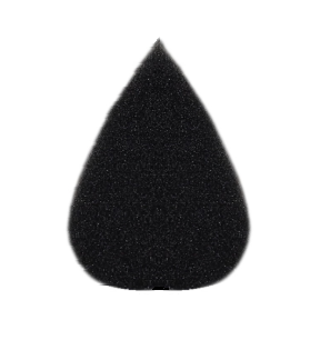 Kryvaline - High Density SOFT Black Sponge - Small Petal - Jest Paint Store