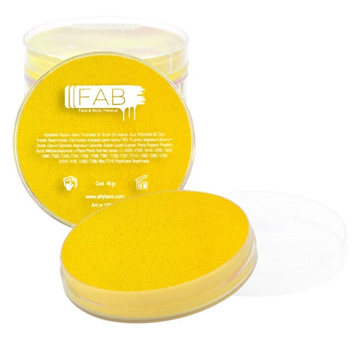 FAB Face Paint - Bright Yellow 45gr #044 - Jest Paint Store
