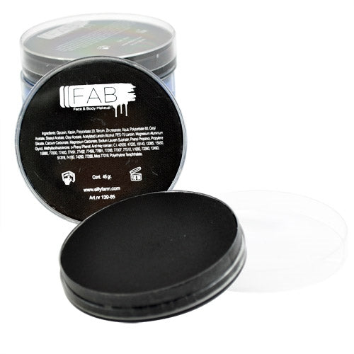FAB Face Paint - Black 45gr #163 - Jest Paint Store