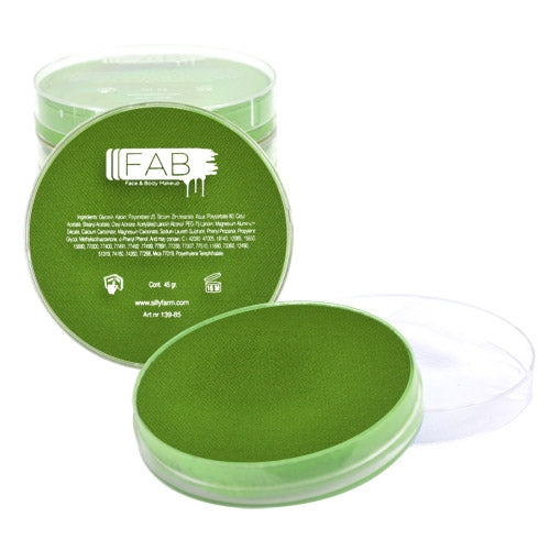 FAB Face Paint - DISCONTINUED- Grass Green 45gr #042 - Jest Paint Store