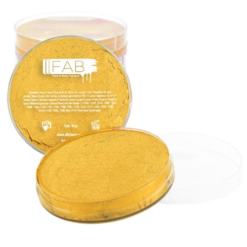 FAB Face Paint - Gold Shimmer 45gr #141 - Jest Paint Store