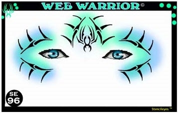 Stencil Eyes / Mask - Face Painting Stencil - Web Warrior - Jest Paint Store