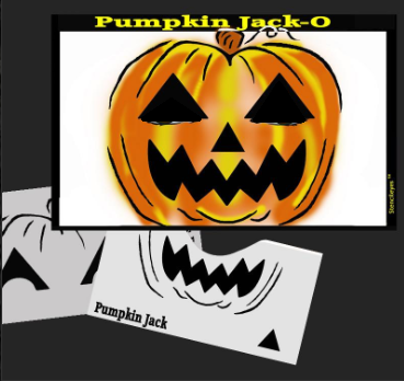 Stencil Eyes - Face Painting Stencil - Pumpkin Jack-O - DISCONTINUED - Jest Paint Store