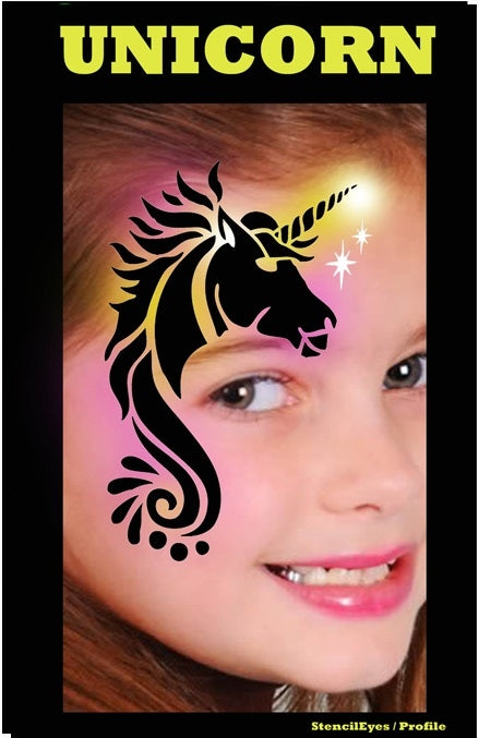 Stencil Eyes / Profiles - Face Painting Stencil - Unicorn - Jest Paint Store
