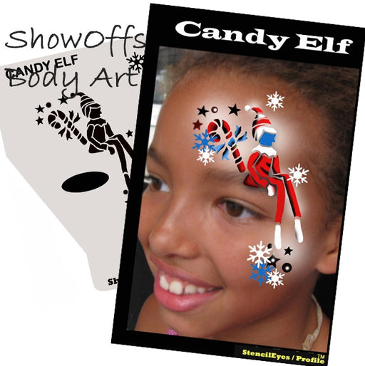 Stencil Eyes / Profiles - Face Painting Stencil - Candy Elf - Jest Paint Store