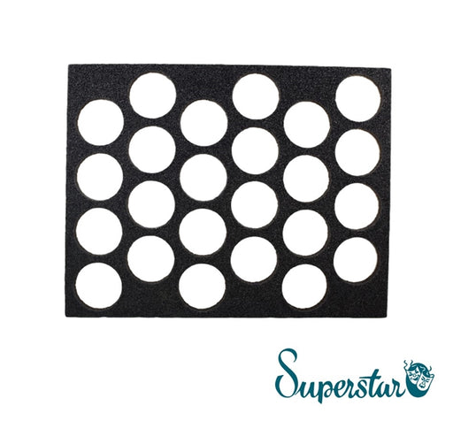 Superstar Face Paint | Empty Foam Insert for 16gr Cakes - 24 spots - Jest Paint Store