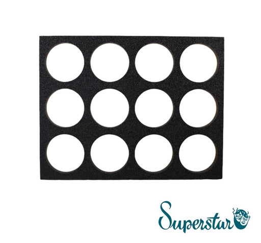 Superstar Face Paint | Empty Foam Insert for 45gr Cakes - 12 Spots - Jest Paint Store