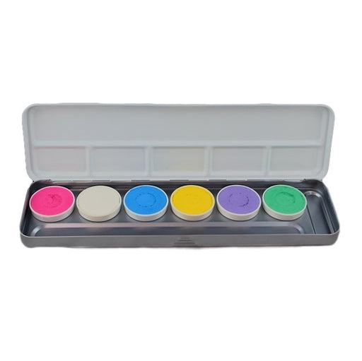 Superstar Face Paint | Aqua Face and BodyPainting Palette - 6 PASTEL colours