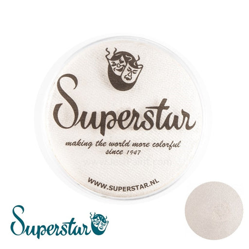 Superstar Face Paint | Silver White with Glitter Shimmer 065 - 45gr