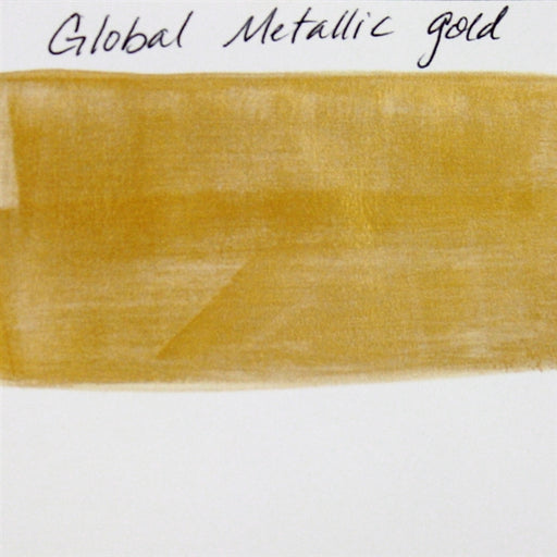 Global Body Art Face Paint- Metallic Gold 32gr SWATCH - Jest Paint Store