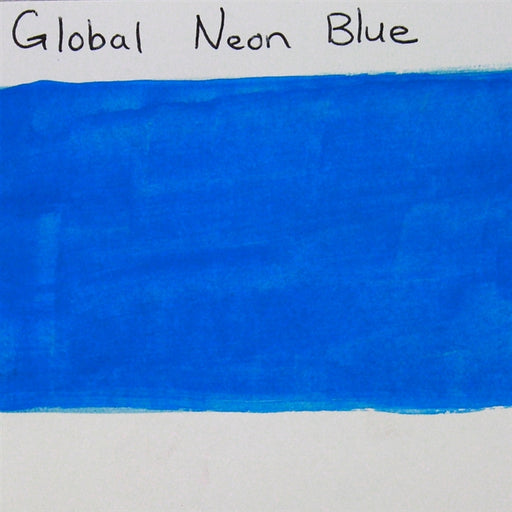 Global Body Art Face Paint - Neon Blue 32gr SWATCH - Jest Paint Store