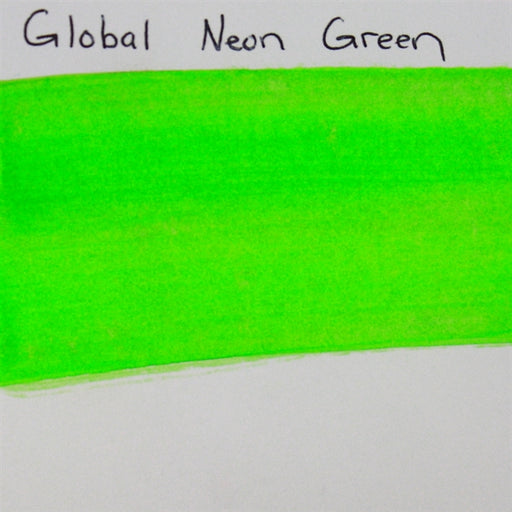 Global Body Art Face Paint - Neon Green 32gr SWATCH - Jest Paint Store
