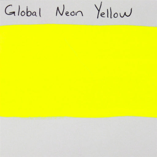 Global Body Art Face Paint - Neon Yellow 32gr SWATCH - Jest Paint Store
