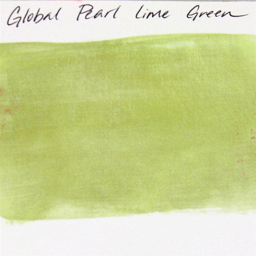 Global Body Art Face Paint - Pearl Lime Green 32gr SWATCH - Jest Paint Store