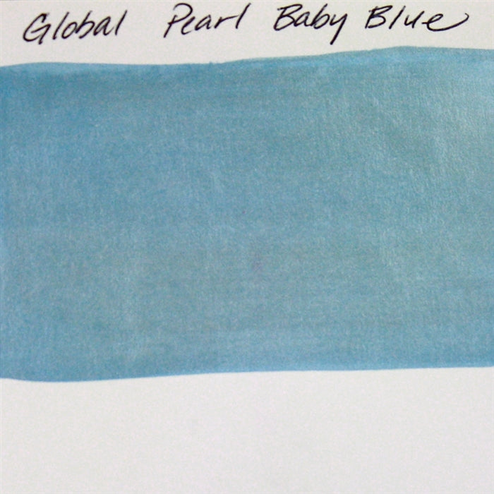Global Body Art Face Paint - Pearl Baby Blue 32gr SWATCH - Jest Paint Store