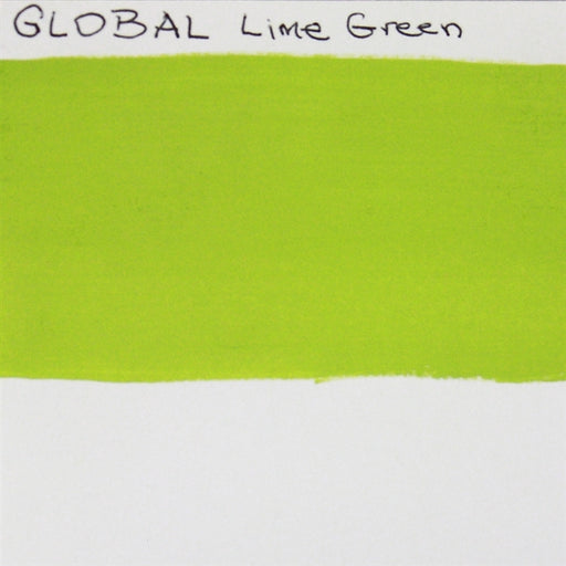 Global Body Art Face Paint - Standard Lime Green 32gr SWATCH - Jest Paint Store