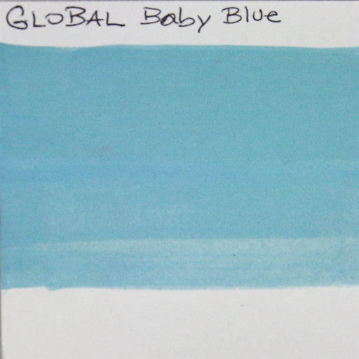 Global Body Art Face Paint - Standard Baby Blue 32gr SWATCH - Jest Paint Store