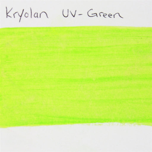 Kryolan Aquacolor - UV Green - 30ml SWATCH - Jest Paint Store