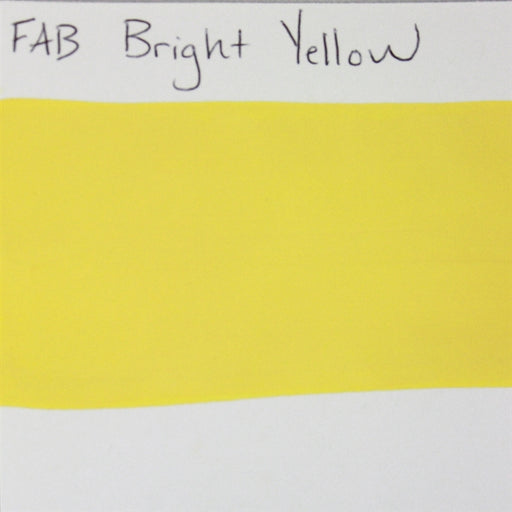 FAB - Bright Yellow 45gr #044 SWATCH - Jest Paint Store
