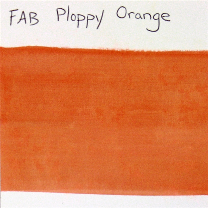 FAB - Ploppy Orange Shimmer 45gr #236 SWATCH - Jest Paint Store