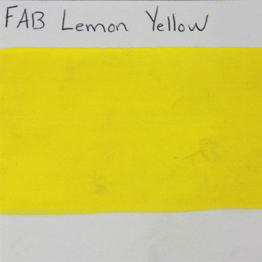 FAB - Lemon Yellow 45gr #144 SWATCH - Jest Paint Store