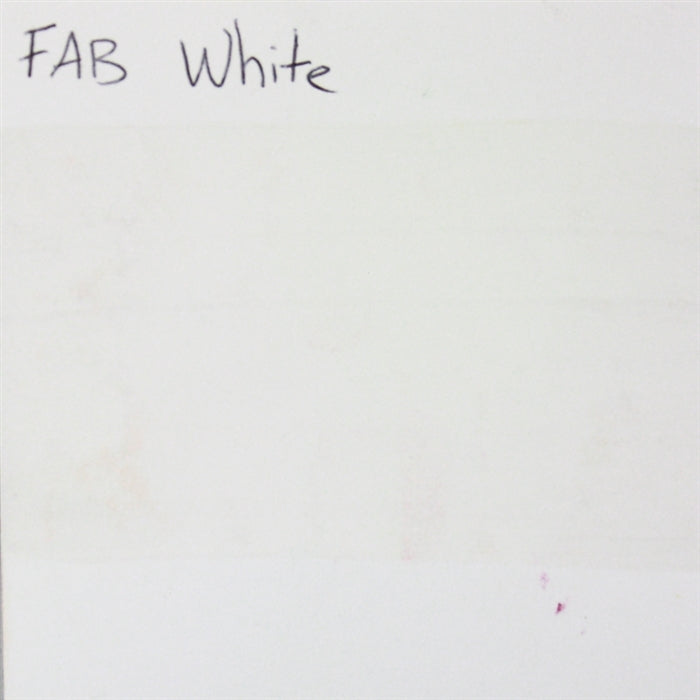 FAB - White 45gr #161 SWATCH - Jest Paint Store