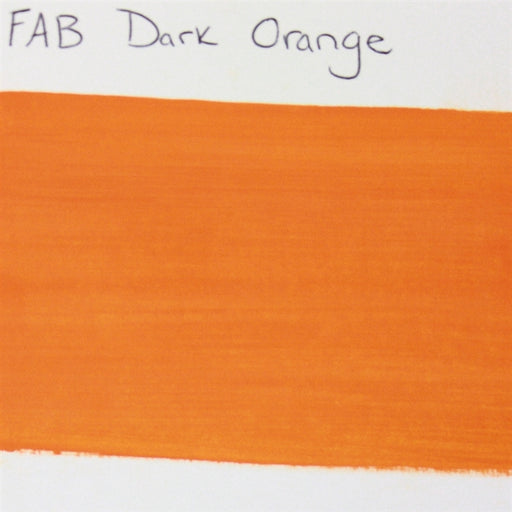 FAB - Dark Orange 45gr #036 SWATCH - Jest Paint Store