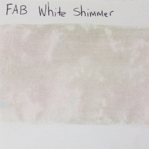 FAB - White Shimmer 45gr #140 SWATCH - Jest Paint Store