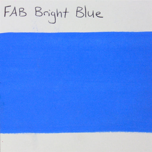 FAB - Bright Blue 45gr #043 SWATCH - Jest Paint Store