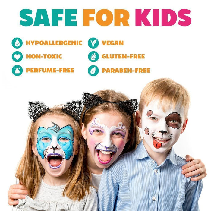 Kraze FX Face and Body Paints | Domed 1 Stroke Cake - Rainbow Cake Safe face paint